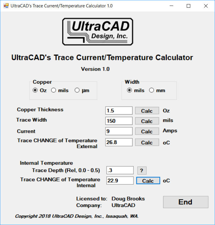 Ultracad design inc homepage new trace calculator greentooth Image collections
