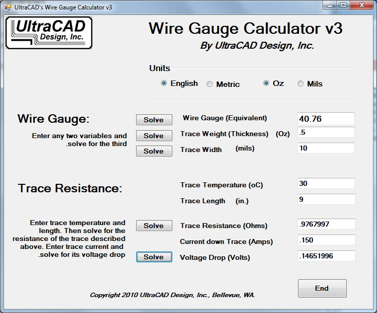 Ultracad design wire gauge calculator keyboard keysfo Images